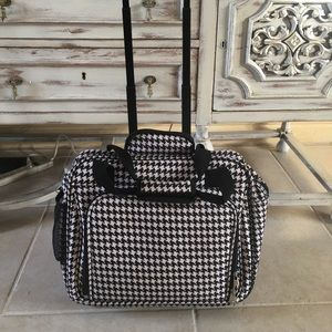 Rolling Carry-on luggage houndstooth